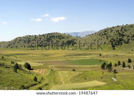 Campo Imperatore (L'Aquila, Abruzzi, Italy) - Landscape at summer in the Gran Sasso d'Italia Natural Park