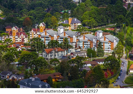 Shutterstock Campos do Jordao Brazil city skyline