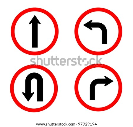 Can do on red circle traffic sign isolated with white background
