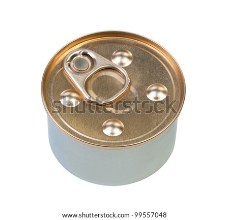 Can isolated on white clipping path view from above.