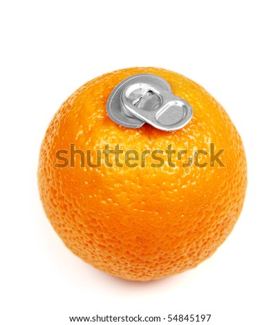 Can of fresh orange juice