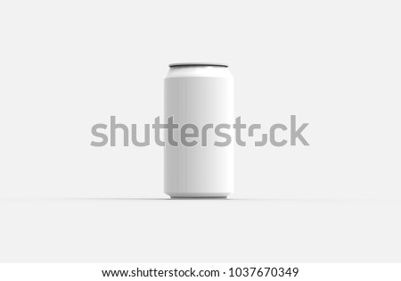 Can on white background 3d illustration rendering