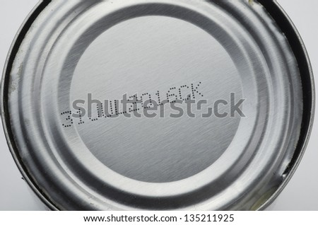 Can Top With Expiration Date - stock photo
