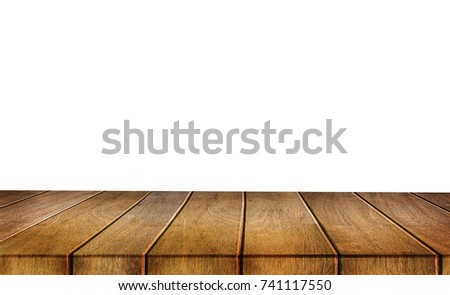 can used for display  your products on Empty  wooden table blurred background selective focus