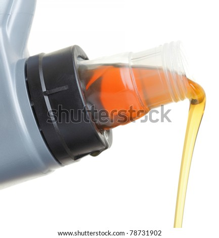 Can with car engine oil isolated on white