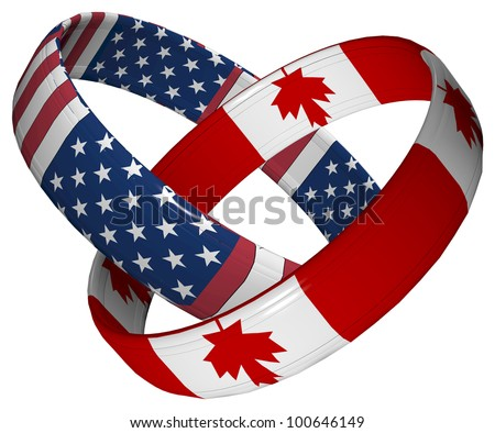 Canada and America: Symbol for the close relationship between the two countries