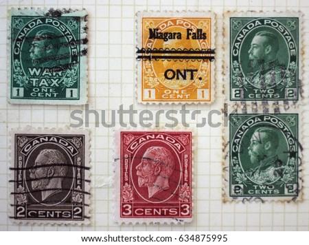 canada   circa 1932  a set of...