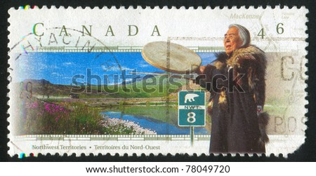 CANADA - CIRCA 1997: A stamp printed by Canada, shows Inuit, circa 1997