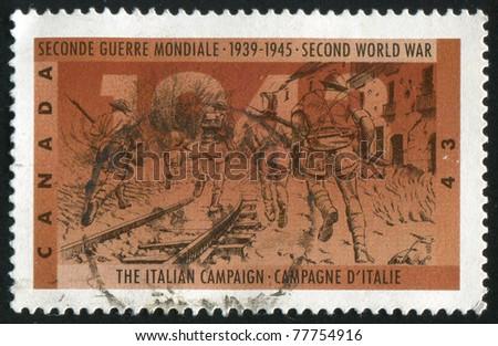 CANADA - CIRCA 1993: A stamp printed by Canada, shows Italian campaign, circa 1993