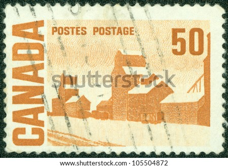 "CANADA - CIRCA 1967: A stamp printed by Canada, shows ""Summer's Stores"" by John Ensor, circa 1967"