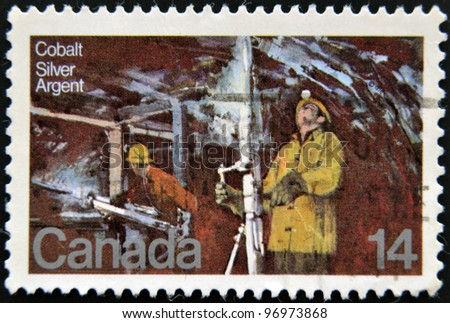 CANADA - CIRCA 1978: A stamp printed in Canada, shows Silver Mine Cobalt Lake, circa 1978