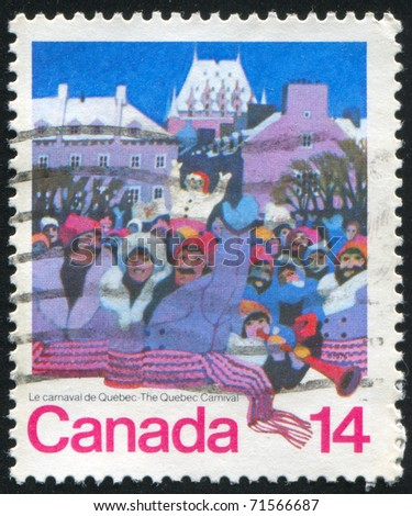 CANADA - CIRCA 1979: stamp printed by Canada, shows Quebec Carnival, circa 1979