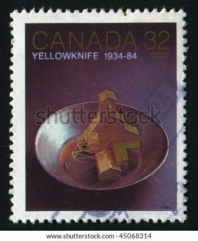 CANADA - CIRCA 1984: Yellowknife 50th Anniv. Gold mine, circa 1984.