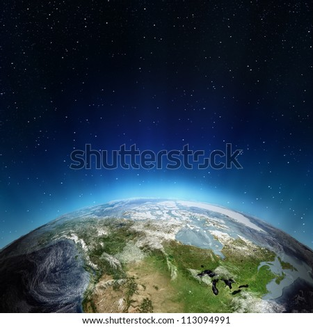 Canada. Elements of this image furnished by NASA