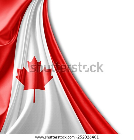 Canada flag and white background