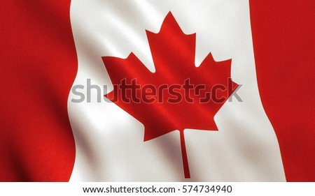 Canada flag background with cloth texture. #574734940
