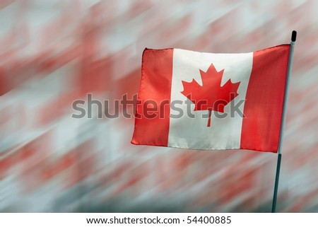 Canada Maple Leaf flag to celebrate Canada Day - stock photo