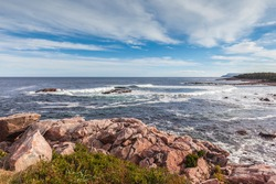Canada, Nova Scotia, Cabot Trail. Cape Breton Highlands National Park, Green Cove.