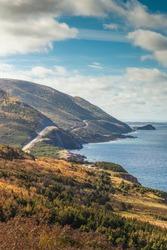 Canada, Nova Scotia, Cabot Trail. Cheticamp, Cape Breton Highlands National Park, coastal highway 6.