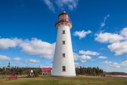 Canada, Prince Edward Island, Point Prim Lighthouse.