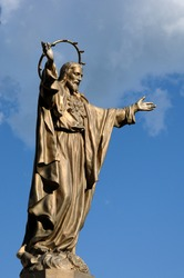 Canada, Quebec, bronze statue of Jesus in Saint Jean