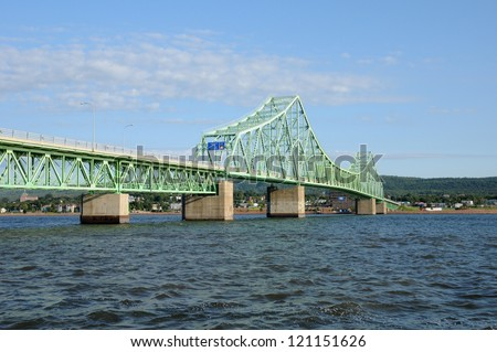 Canada, Quebec, the bridge between Campbellton and Pointe a la Croix