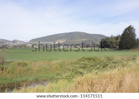 Canada\'s rural farming breadbasket/Canadian Landscape/A rural view of one of Canada\'s richest agricultural areas; The Fraser Valley.