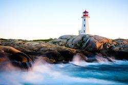 Canada: surreal landscape of Peggy's Cove in Nova Scotia