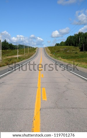 Canada, the road number 169 between Quebec and  Saint Jean lake