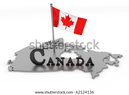 Canada Tribute/Digitally rendered scene with flag and typography