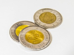 Canadian Circulation 2 Dollar Coins Toonies Queen Elizabeth