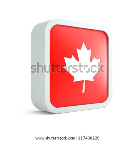 Canadian flag icon on a white background