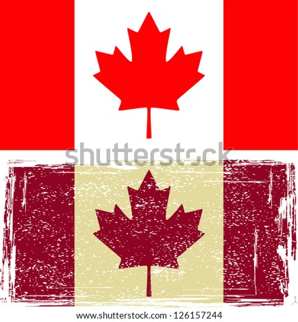 Canadian flags. Raster version, vector file available in portfolio.