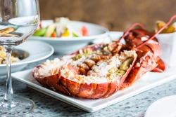 Canadian Lobster on dinner
