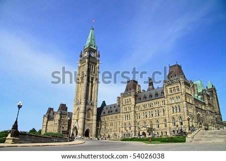 Canadian Parliament Building at Ottawa