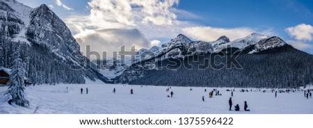 Canadian Rockies during winter  #1375596422