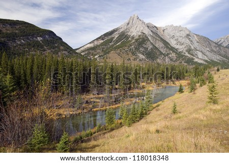 Canadian Rockies, Kananaskis Country with Mist Mountains