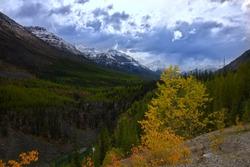 Canadian Rockies near Vista Lake in Alberta
