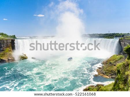 Canadian side of Niagara Falls in summer