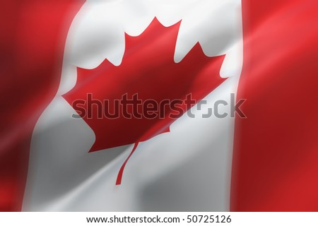 Canadian waving flag (3d illustration)