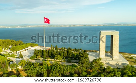 Canakkale Martyrs Memorial is a commemoration to the service of Turkish soldiers who participated at the Battle of Gallipoli, during the First World War