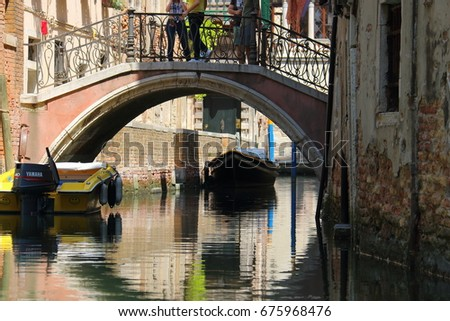 Canal and bridge Venice Italy 27.05.17 #675968476