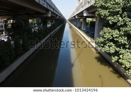 Canal for water storage. #1013424196