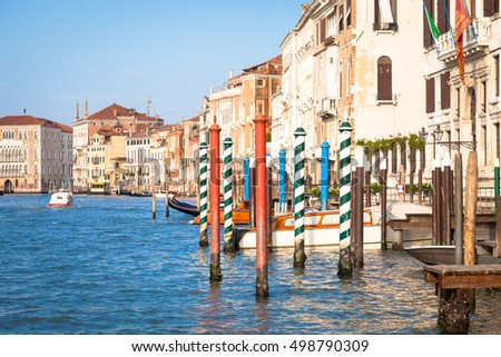 Canal Grande is the most important canal of Venice with wonderful viewpoints #498790309
