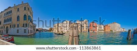 Canal Grande near Accademia bridge in Venice, Italy
