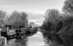 Canal House Boats at Frosty Sunrise