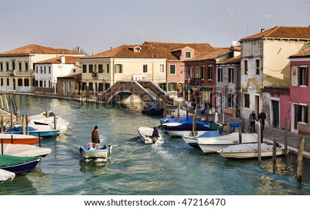 Canal in Murano, Venice, Italy
