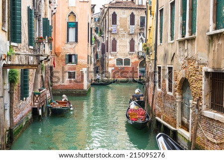 Canal in Venice, Italy #215095276