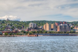 Canal Park is a Popular Tourist Destination in Duluth, Minnesota on Lake Superior