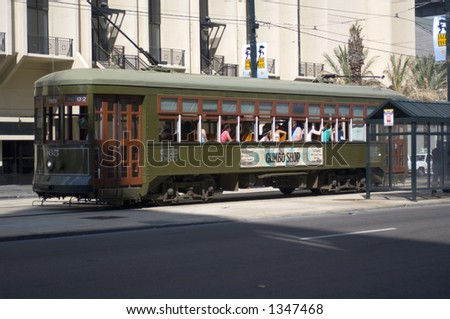 Canal St. trolley - New Orleans, LA